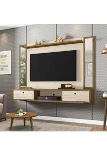 Painel Para Tv 60 Pol Bechara Ametista Com Espelho 2 Portas