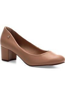 Scarpin Shoestock Salto Bloco - Feminino-Noz