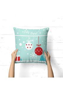 Capa De Almofada Love Decor Avulsa Decorativa Feliz Natal