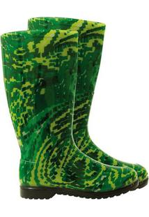Galocha Abstrata- Verde & Verde Claro- Calfor Pampeacalfor Pampeana