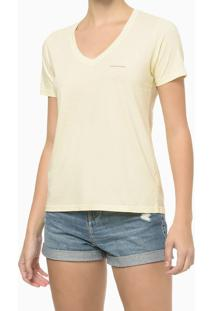 Blusa Mc Slim Meia Reat Gv Logo Peito - Amarelo Claro - Pp