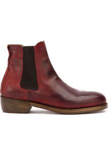 Ajmone Beatles Ankle Boots - Vermelho