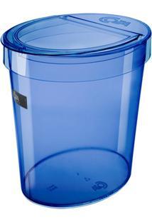 Lixeira Oval Retro Azul 5 Litros