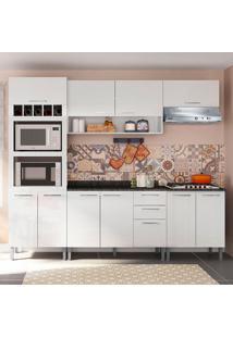 Cozinha Isadora 0424T 9 Portas C/ Tampo – Genialflex - Branco