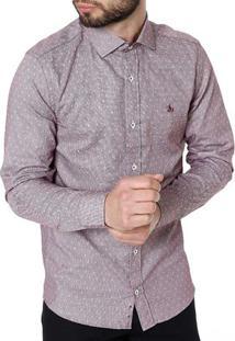 Camisa Manga Longa Masculina Vinho