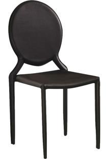 Cadeira Amanda Medalhão Marrom Rivatti Móveis