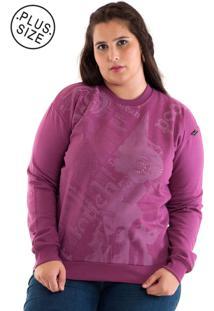 Blusão Moletom Konciny Plus Size Violeta