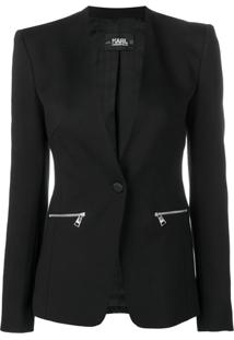Karl Lagerfeld Blazer Com Logo - Preto