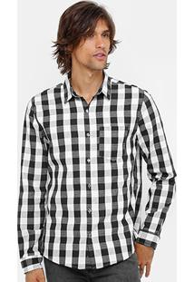 Camisa Calvin Klein Quadriculada Masculina - Masculino
