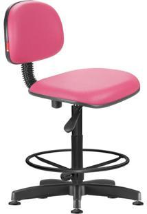 Cadeira Caixa Alta Secretária Giratória Courvin Rosa