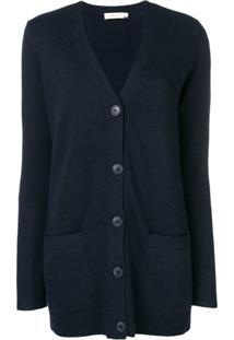 Tory Burch Buttoned Up Cardigan - Azul