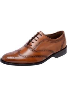 Sapato Social Youth Class Oxford Caramelo