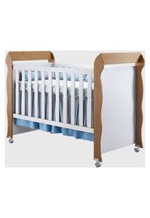 Dormitório Guarda Roupa Ariel 4Portas/Cômoda 4 Gavetas E Berço Mirelle Amadeirado Carolina Baby Marrom/Branco