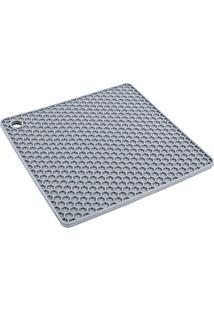 Descanso De Panela Cinza Silicone 17Cm - 30340