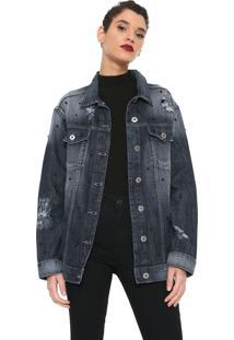 Jaqueta Jeans Colcci Oversized Azul