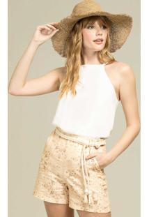 Blusa Com Alças Botões Branco Off White - Lez A Lez
