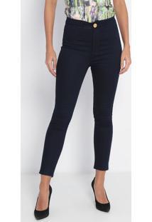 Jeans Jegging Super High- Azul Escuro- Lança Perfumelança Perfume