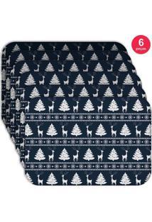 Jogo Americano Love Decor Wevans Premium Natal Kit Com 6 Pçs