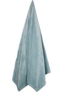 Cobertor Velour Neo Em Microfibra Solteiro- Verde ÁGua