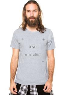 Camiseta Rgx Love Minimalism Cinza