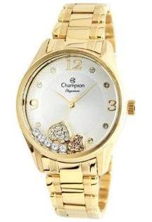 Relógio Feminino Champion Analógico Elegance - Cn24280H - Feminino-Dourado