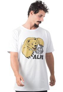 Camiseta Alfa Urso Branco
