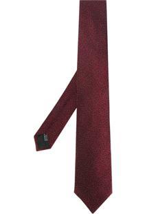 Lanvin Gravata Texturizada - Vermelho