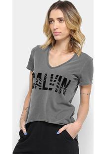 Camiseta Calvin Klein American Feminina - Feminino-Preto