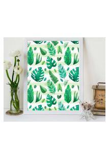Quadro Decorativo Com Moldura Flowers Branco - 20X30Cm