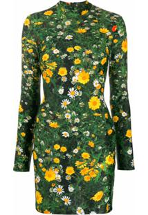 Christopher Kane Vestido Mini Com Estampa Floral - Verde