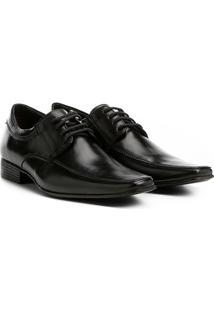 Sapato Social Couro Shoestock Tradicional Masculino - Masculino-Preto