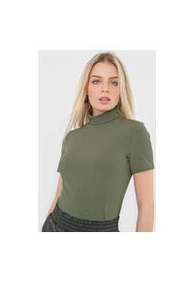 Blusa Lança Perfume Canelada Verde
