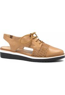 Sapato Zariff Shoes Oxford Vazado Marrom
