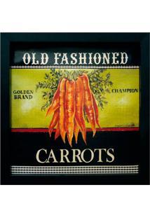 Quadro Caixa Carrots Preto 33X33 Cm Kapos