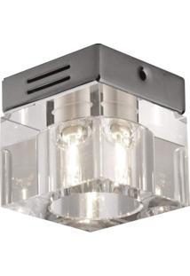Spot Sobrepor G9 Quadrado Cristal 50W Cromado Bella Iluminação Bivolt