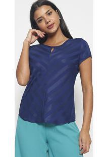 Blusa Listrada- Azul Marinho- Vip Reservavip Reserva