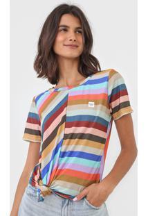 Camiseta Hang Loose Louvre Soft Bege/Azul - Kanui