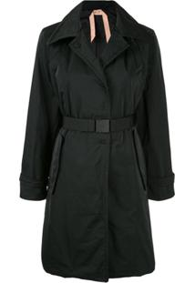 Nº21 Belted Trench Coat - Preto
