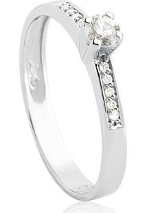 Anel Solitário De Ouro 18K Diamante 21 Pontos Desire