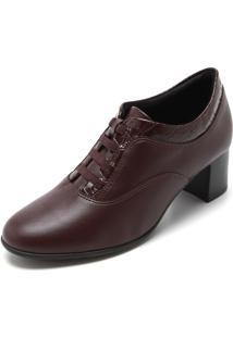 Ankle Boot Comfortflex Liso Marrom