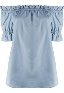 Michael Michael Kors Blusa Ombro A Ombro - Azul