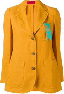 The Gigi Blazer Com Botões - Amarelo