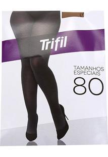 Meia Calça Trifil Plus Size Opaca Fio 80 Feminina - Feminino-Bege