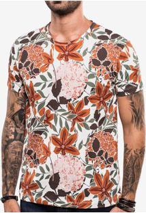 Camiseta Orange Flowers 103605