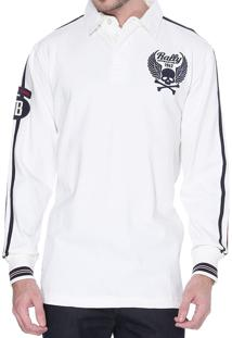 Blusa Kevingston Breton Rugby Off White De Algodao
