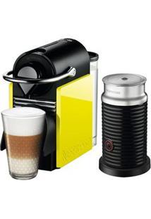 Cafeteira Nespresso Pixie C60 Preta E Amarela + Aeroccino 3