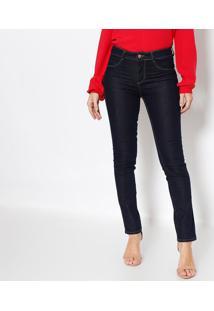 9be2d1d43 ... Jeans Skinny Com Pespontos - Azul Escuro- Heringhering