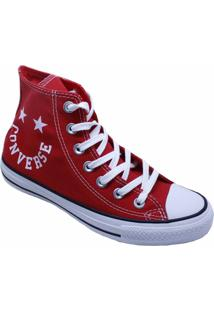 Tênis Converse All Star Chuck Taylor Hi Vermelho Branco Ct13180002 - Kanui