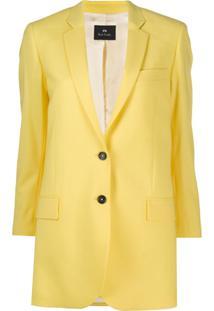 Ps Paul Smith Blazer Oversized Com Abotoamento Simples - Amarelo