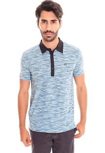 Camiseta Polo Convicto Abertura Lateral Azul